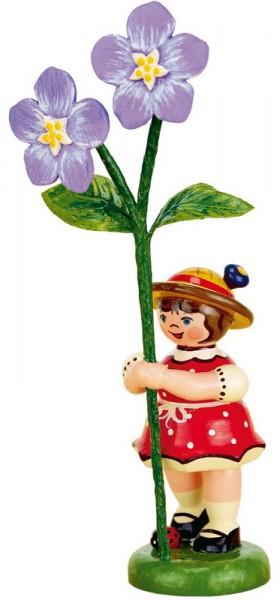 Blumenkind mit Flachs, 11 cm, Hubrig Volkskunst GmbH Zschorlau/ Erzgebirge