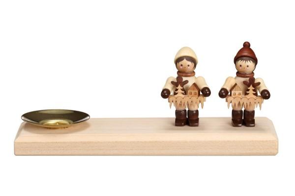Kerzenhalter Striezelkinder, 15 x 4.3 cm, Nestler-Seiffen.com OHG Seiffen/ Erzgebirge
