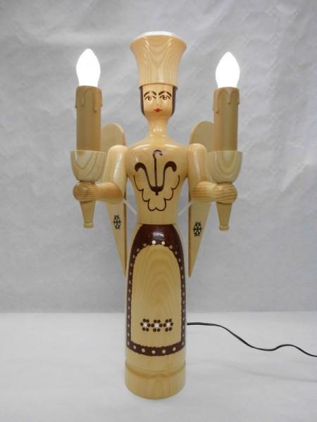 Weihnachtsengel, 50 cm, natur, elektrisch beleuchtet von Nestler-Seiffen