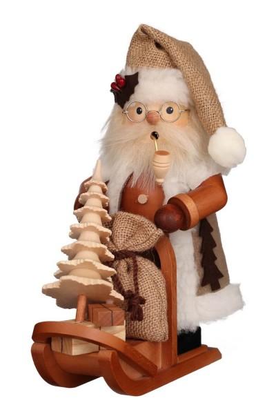 Räuchermännchen Weihnachtsmann mit Schlitten, 28 cm, Christian Ulbricht GmbH & Co KG Seiffen/ Erzgebirge