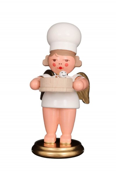 Weihnachtsengel - Bäckerengel mit Mehlsieb, 8 cm von Christian Ulbricht GmbH & Co KG Seiffen/ Erzgebirge