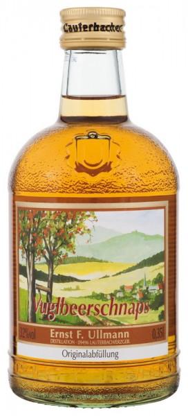 Vugelbeerschnaps von Ullmann, 0,35l, 32 % vol., Eine Spirituosenspezialität hergestellt aus dem Saft und Destillat der veredelten Eberesche. Für jeden …