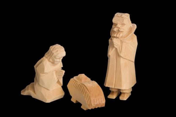 Nestler-Seiffen, Krippenfiguren Heilige Familie, 3 – teilig