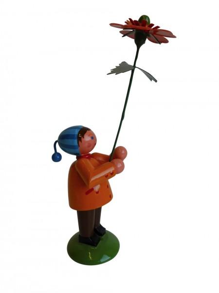 Blumenkinder - Blumenkind Junge mit Geum, handbemalt, 12 cm von WEHA-Kunst Dippoldiswalde/ Erzgebirge