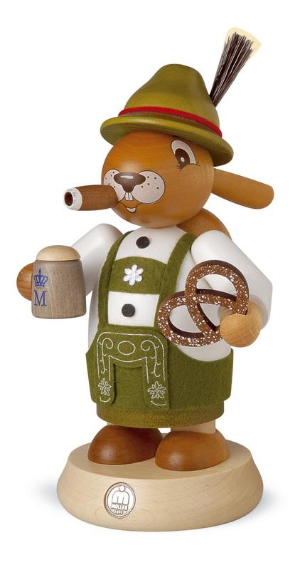 Räuchermännchen von Müller Kleinkunst Osterhase Bayer aus Holz
