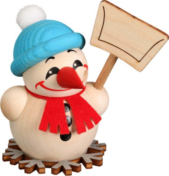 Räuchermännchen Cool-Man mit Schneeschippe von Seiffener Volkskunst eG