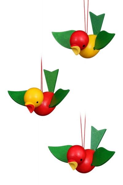 Flugvogel, groß, 6 Stück, 5 cm von Christian Ulbricht GmbH & Co KG Seiffen/ Erzgebirge