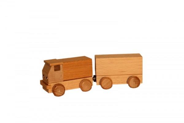 Lastzug, natur, 15 cm, Spielalter ab 3 Jahre, Erzgebirgische Holzspielwaren Ebert GmbH Olbernhau/ Erzgebirge