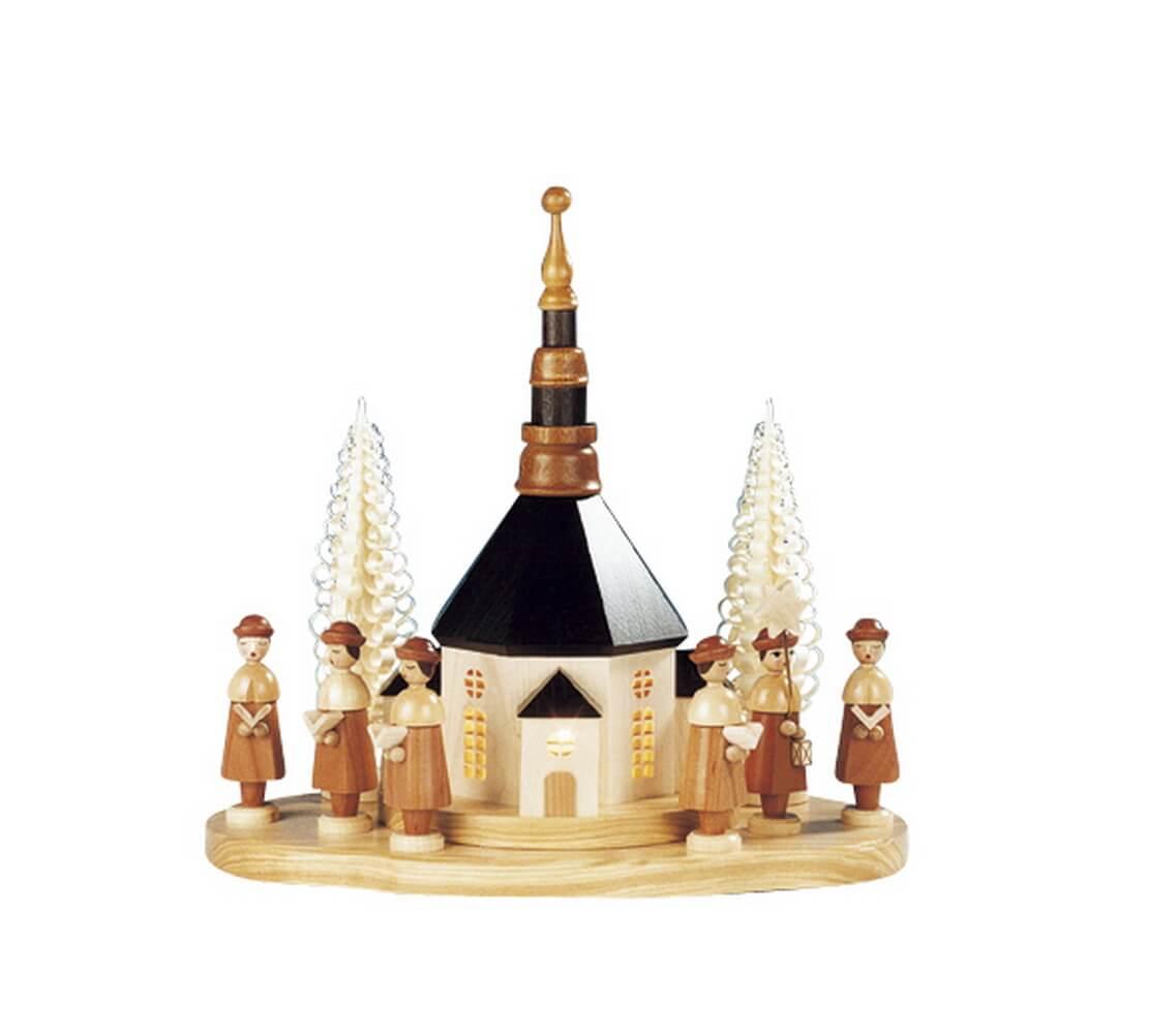 Knuth Neuber, Sockelbrett Seiffener Kirche mit großer Kurrende