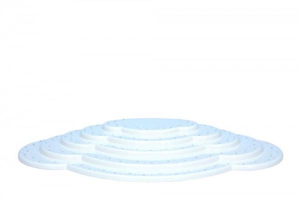 Wolke für Weihnachtsengel, weiß, 5 - teilig, 52,5 cm von Christian Ulbricht GmbH & Co KG Seiffen/ Erzgebirge