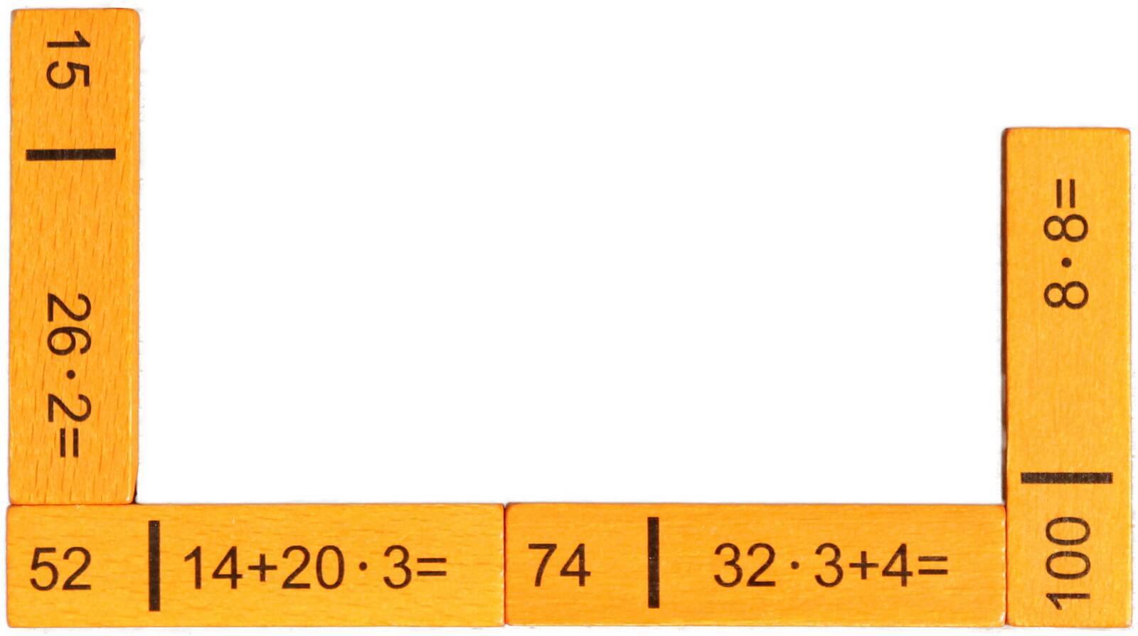 Rechendominos dienen zu Verfestigen der Grundrechenarten und fördern das Lernen von Einheiten. Die Spiele bestehen aus 40 Spielsteinen und sind für zwei bis …