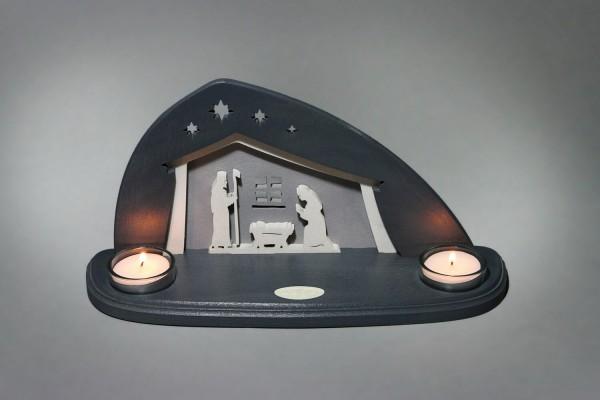 Teelichthalter Bethlehem, 29 x 14,5 x 11,0 cm von Weigla - Günter Gläser Deutschneudorf/ Erzgebirge Der moderne …