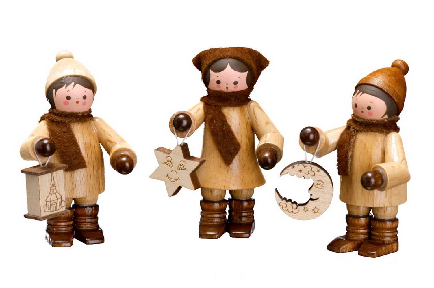 Die Lampionkinder, mini, 3-teilig in natur von Romy Thiel Deutschneudorf/ Erzgebirge, gehen zurück auf eine langjährige wunderschöne Tradition. Der Laternen - …