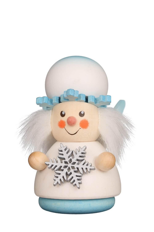 Wackelmännchen Schneeflöckchen von Christian Ulbricht GmbH & Co KG Seiffen/ Erzgebirge ist 8 cm groß. Fröhlich tanzt das Schneeflöckchen durch die Lüfte …