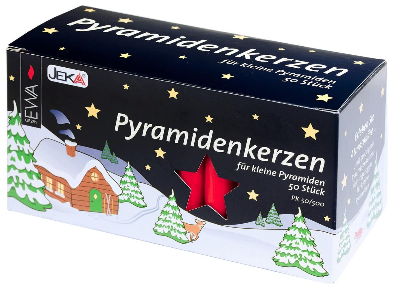 EWA Pyramidenkerzen 50 Stück, rotfür Weihnachtspyramiden