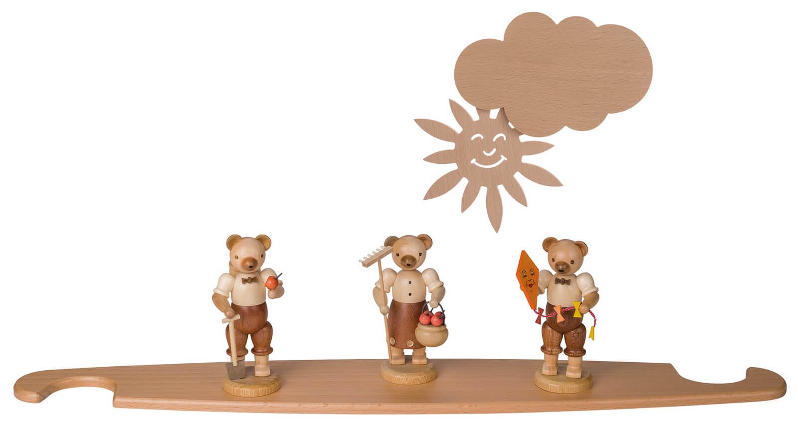 Motivplattform Bären für Moderne LED Lichterspitze, natur von Müller Kleinkunst