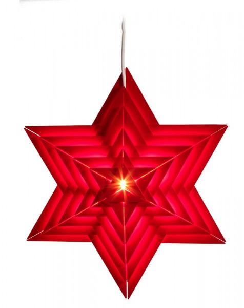 Elektrisch beleuchteter Weihnachtsstern, rot, 40 cm von Volkskunstwerkstatt Eckert aus Seiffen/ Erzgebirge