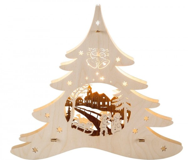 Weigla Beleuchtetes Fensterbild Tannenbaum Winterspaß