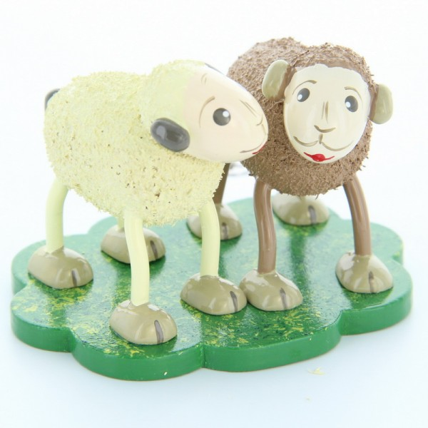 Schafe Quatschi und Tratschi, 5,0 cm, Frieder & André Uhlig Seiffen/ Erzgebirge