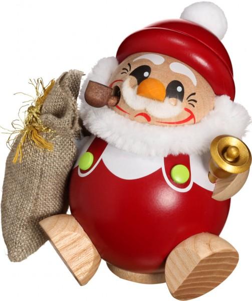lustige Räucherfigur mit Glocke und Geschenkesack