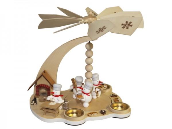 Weihnachstpyramide & Schneemannpyramide Weihnachtsbäckerei, 27 cm, Volker Zenker Seiffen/ Erzgebirge