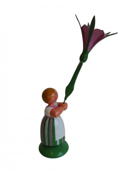 Blumenkinder - Feld- und Wiesenblumenkind Mädchen mit Winde, 11 cm von WEHA-Kunst Dippoldiswalde/ Erzgebirge