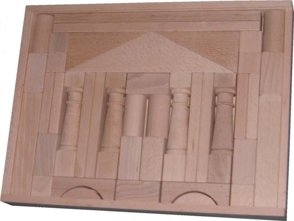 Der Baukasten Domizil 2 besteht aus 41 großformatigen Bausteinen mit den sich gut große Spannweiten überwinden lassen. Es ist also leicht möglich, Brücken und …
