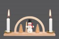 Vorschau: Minischwibbogen von Nestler-Seiffen mit Schneemann für Wachskerzen _Bild3