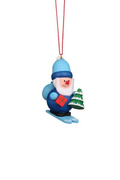 Christbaumschmuck von Christian Ulbricht Weihnachtsmann, blau, 6 Stück