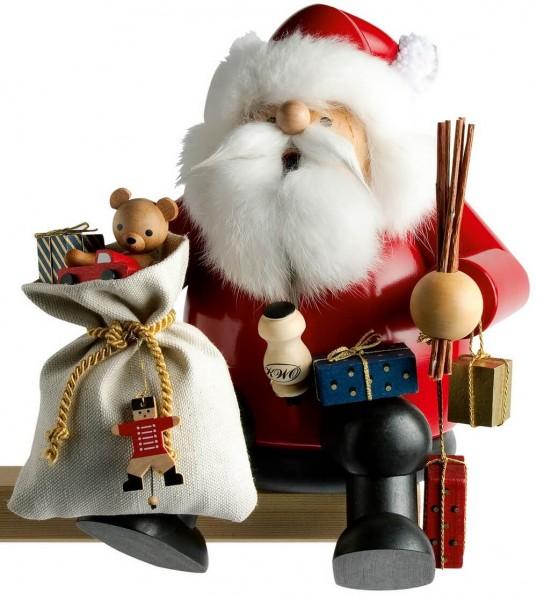 KWO Kantenhocker Räuchermännchen Weihnachtsmann, 24 cm hoch