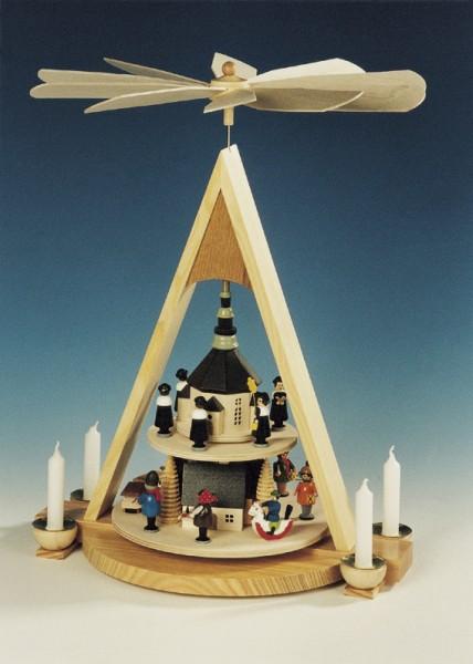 Weihnachtspyramide Seiffener Weihnacht, 2 - stöckig, Knuth Neuber Seiffen/ Erzgebirge
