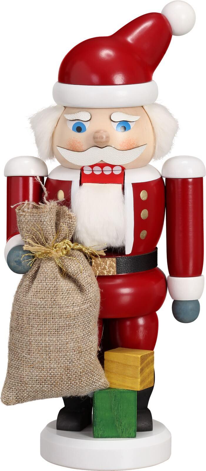 Ho, Ho, Ho ... Wer kommt dennn da von draussen rein ? Der Nussknacker Weihnachtsmann, 21 cm von der Seiffener Volkskunst eG Seiffen/ Erzgebirge. Dienten …