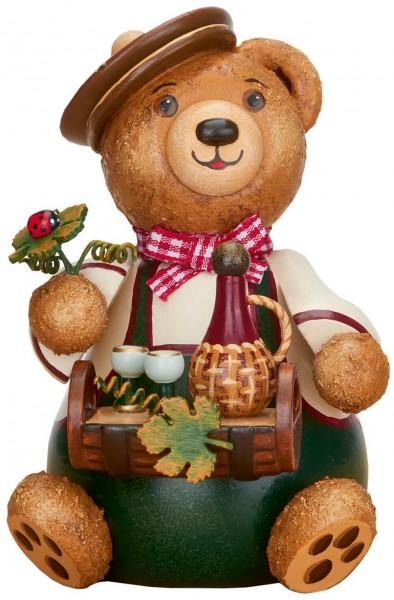 Teddy Weinliebhaber aus Holz aus der Serie Hubiduu Teddy von Hubrig