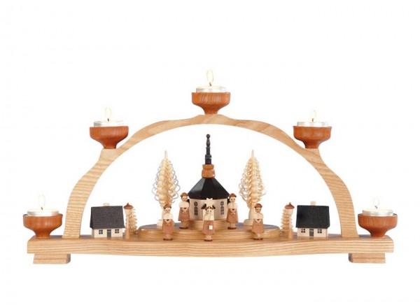 Knuth Neuber, Schwibbogen Seiffener Kirche für Teelichter_Bild1