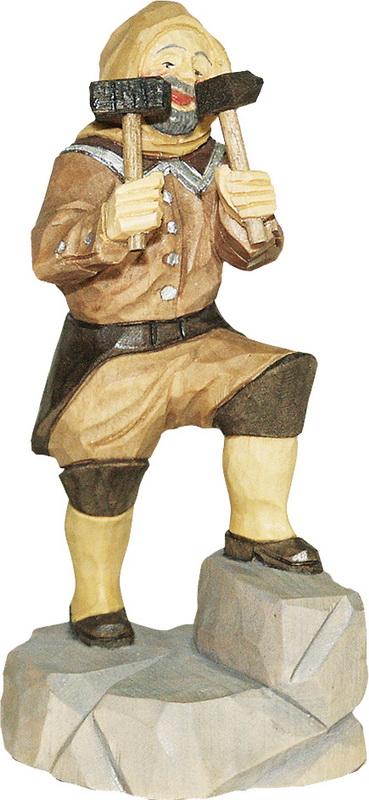 Berghäuer beim Hauen, geschnitzt von Schnitzkunst aus dem Erzgebirge_Bild2