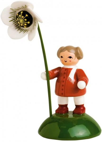 KWO Blumenkind Mädchen mit Christrose hochwertig lackiert