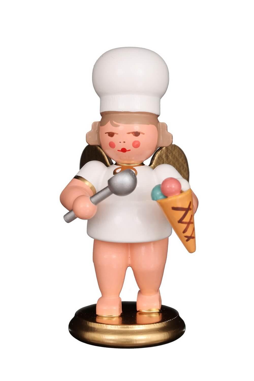 Weihnachtsengel - Bäckerengel mit Eistüte, 8 cm von Christian Ulbricht GmbH & Co KG Seiffen/ Erzgebirge