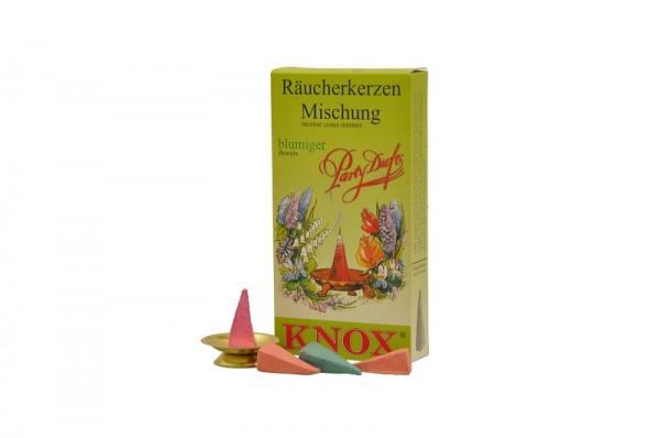 Räucherkerzen - Partyduft blumig, 24 Stück pro Packung von KNOX - Apotheker Hermann Zwetz