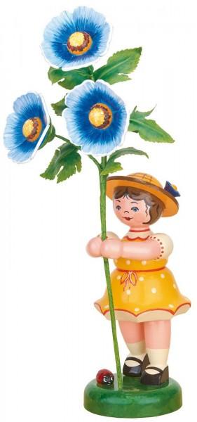 Blumenkind von Hubrig Volkskunst Mädchen mit Malve, 24 cm