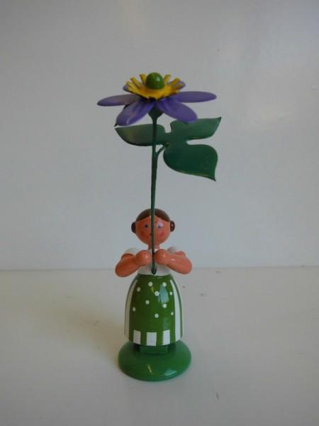 Wiesenblumenmädchen mit Leberblume von WEHA-Kunst