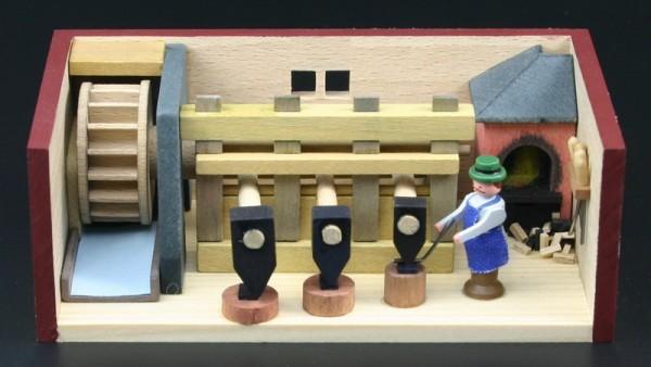 Miniaturstübchen Hammerwerk von Gunter Flath aus Seiffen / Erzgebirge Detailgetreue Nachbildung eines Hammerwerkes aus früheren Zeiten. Hier kann man genau …