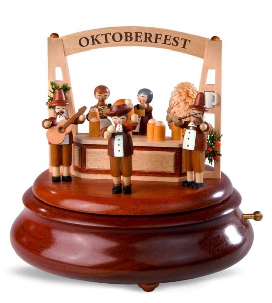 Elektronische Spieluhr & Spieldose V 3.0 Oktoberfest, 13 cm, Durchmesser: 15 cm, mit BT-Soundelektronik und IR-Barcodeleser, bis zu 25 Stunden …