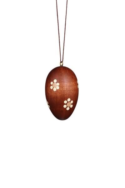 Ostereier, natur, dunkel, 6 Stück, 5 cm von Christian Ulbricht GmbH & Co KG Seiffen/ ErzgebirgeDie dunklen Ostereier sind jeweils mit kleinen hellen …