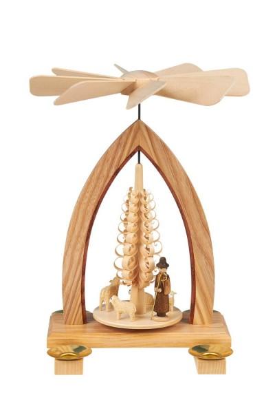 Weihnachtspyramide mit Schafen, 26 cm hergestellt von Heinz Lorenz Olbernhau/ Erzgebirge_Bild1
