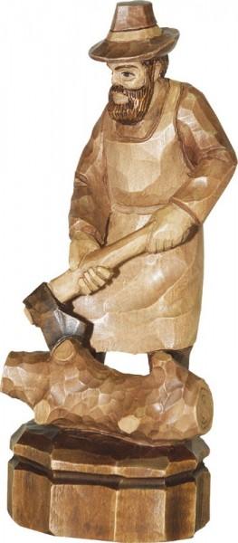 Holzfäller, gebeizt, geschnitzt, in verschiedenen Größen