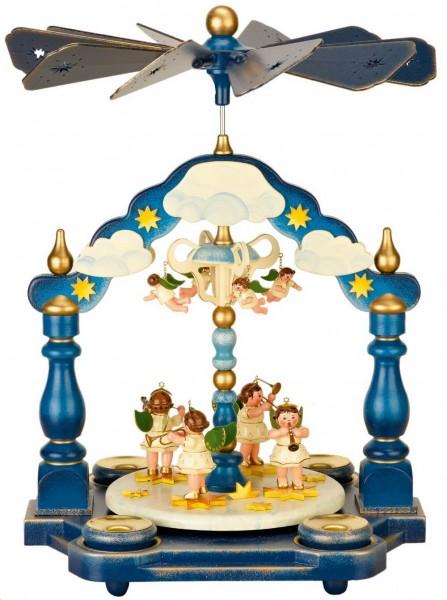 Weihnachtspyramide mit Weihnachtsengelorchester, 35 x 25 cm von Hubrig Volkskunst GmbH Zschorlau/ Erzgebirge.Bei dieser Pyramide kann man Teelichter oder …