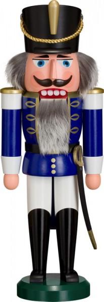 Nussknacker Husar, blau, 38 cm von Seiffener Volkskunst eG