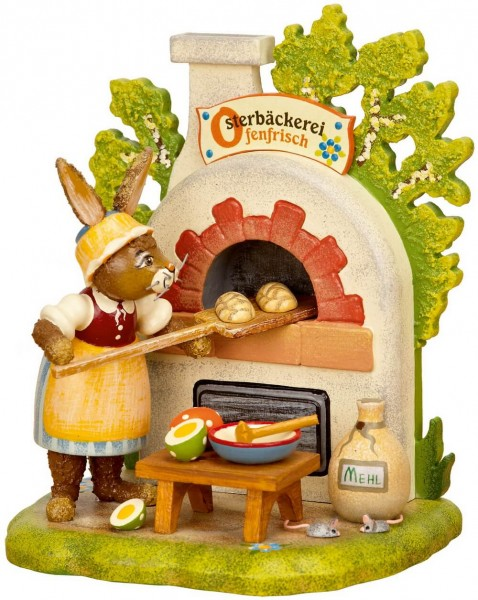Osterhase als Bäcker aus Holz von der Serie Hubrig Osterhasen