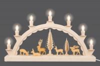 Vorschau: Schwibbogen von Nestler-Seiffen mit geschnitzten Hirschen, elektrisch beleuchtet_Bild3