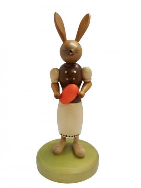 Osterhäsin mit Osterei, 24 cm, Nestler-Seiffen.com OHG Seiffen/ Erzgebirge